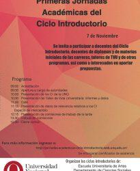 Primeras Jornadas Académicas de Ciclo Introductorio