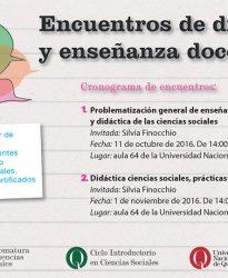 """Jornada de Capacitación docente: """"Encuentros de diálogo y enseñanza docente"""""""