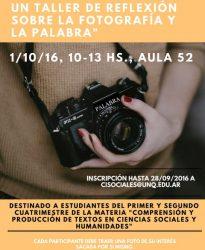 Taller sobre fotografía y palabra